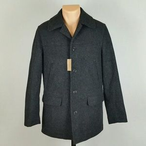 J Crew Men's (NWT) Pea Coat Jacket Dark Grey
